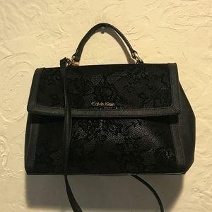 Calvin Klein Black Lace Satchel
